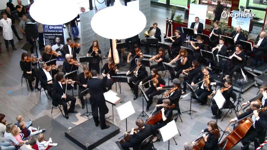 L'an dernier, le hall du Centre hospitalier de Valenciennes a déjà accueilli l'orchestre de Picardie