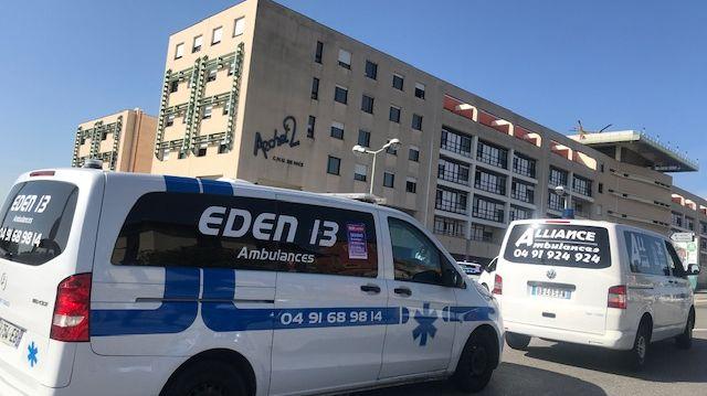 manifestation ambulanciers à Nice