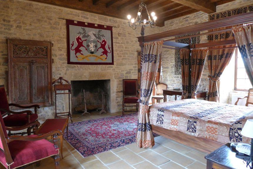 La chambre du château de Pechrigal