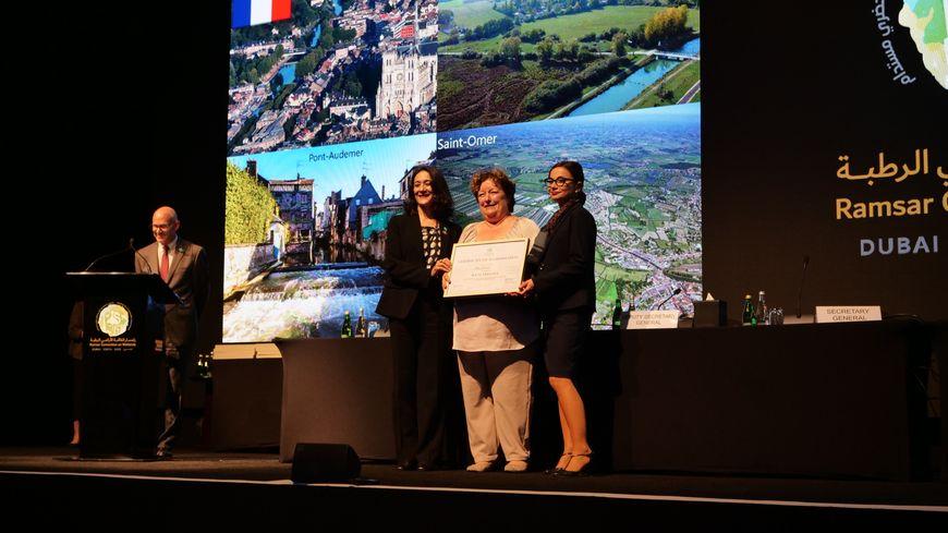 Le maire d'Amiens Brigitte Fouré à Dubaï pour recevoir le label Ramsar