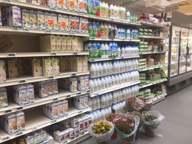 Ici 80% du lait est vendu en promotion.