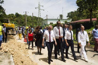 En visite dans les Antilles, le président a dit sa colère face à la reconstruction trop lente de Saint-Martin