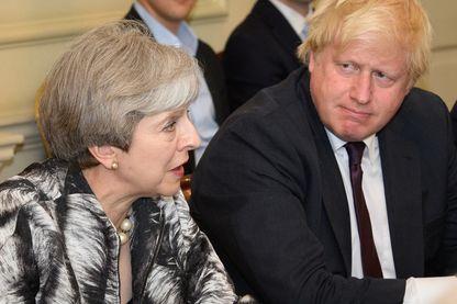 Theresa May et Boris Johnson en juin 2017, quand l'actuel rival de la première ministre était Secrétaire au Foreign Office dans son gouvernement.