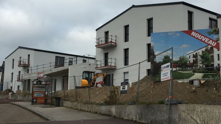 Les travaux de la résidence continuent route de Coutances à Agneaux, ce jeudi 25 octobre.