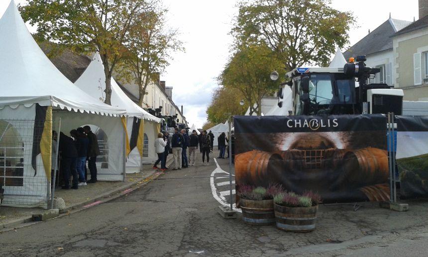 À la 70e fête des vins de Chablis, samedi 27 octobre 2018.