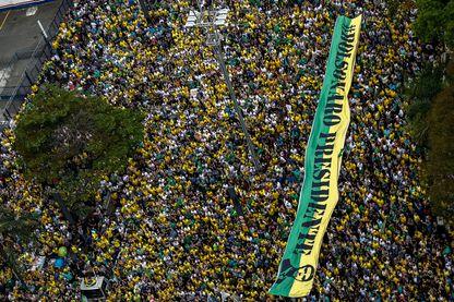 Une manifestation de soutien au candidat de l'extrême droite dimanche dernier à Sao Paulo