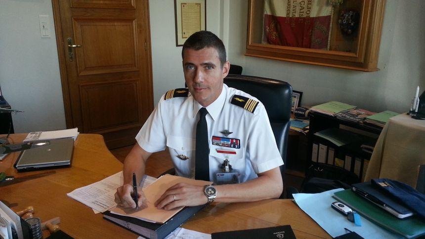Le colonel Géraud Laborie, commandant de la base aérienne d'Avord.