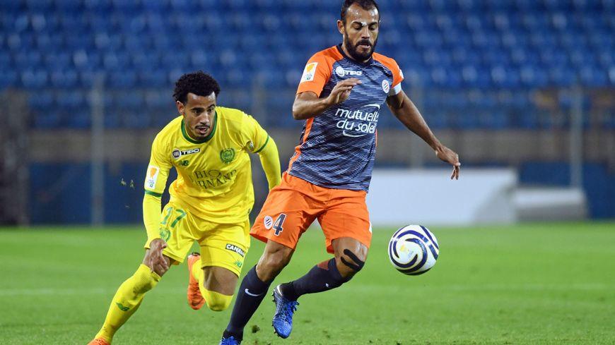 Le capitaine montpelliérain Vitorino Hilton face à Nantes en coupe de la Ligue