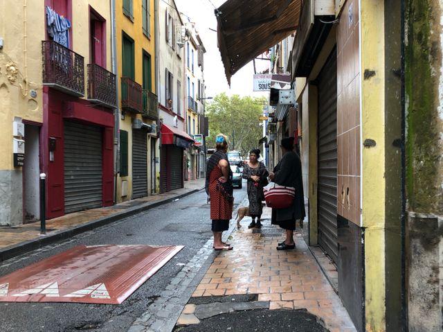 Quartier gitan de Perpignan, en voie de démolition.