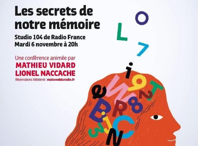 Conférence France Inter Les Secrets de notre mémoire