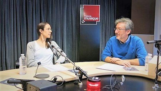 France Musique, studio 131... La compositrice, Clara Iannotta & Arnaud Merlin, producteur de l'émission