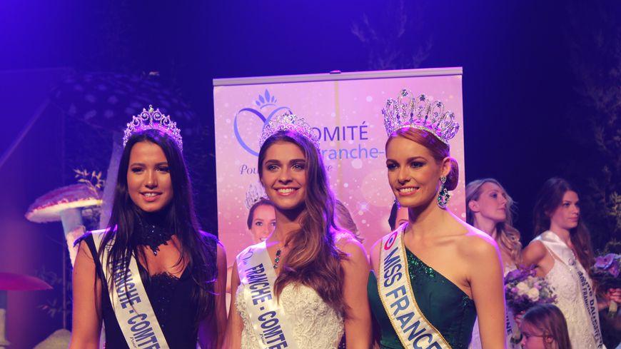 C'est Lauralyne Demesmay (au centre) qui a été élue miss Franche-Comté 2018