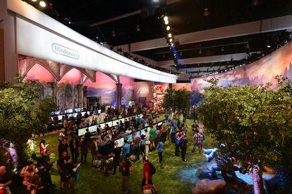 """Joueurs lors d'une compétition de gaming """"The Legend of Zelda: Breath of the Wild"""" à l'occasion de la E3 Gaming Conference (Electronic Entertainment Expo) de Los Angeles en juin 2016 !"""