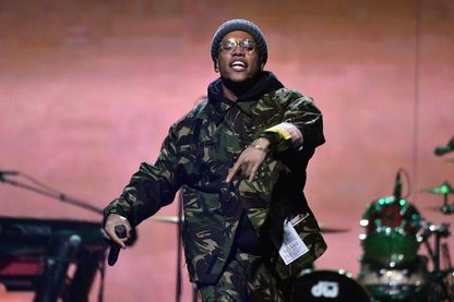Anderson .Paak sur la scène du Barclays Center, à Brooklyn (octobre 2018, New York) !