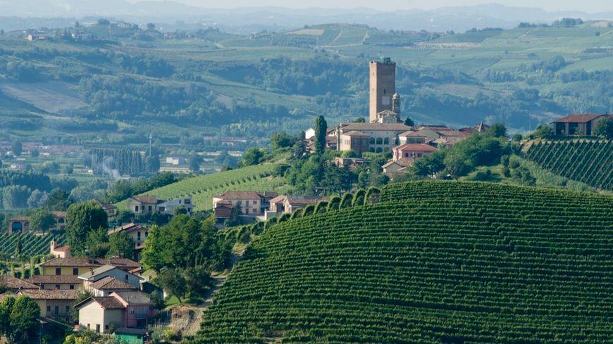 La tour de Barbaresco en Italie