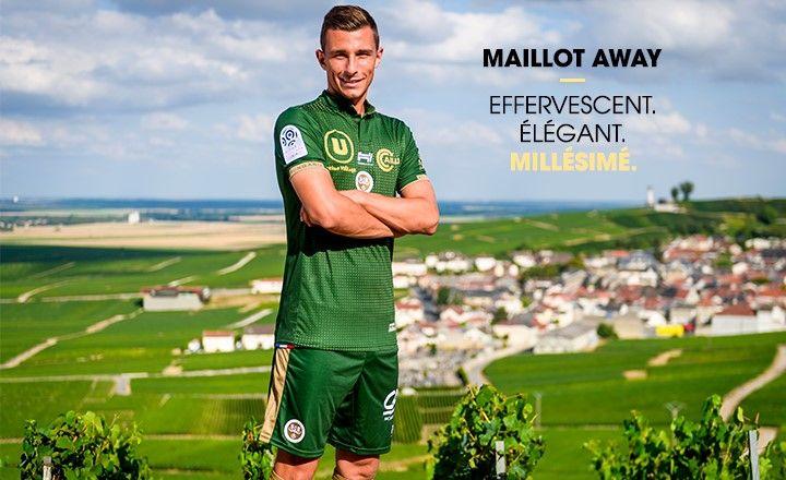La campagne de présentation du maillot vert du Stade de Reims.