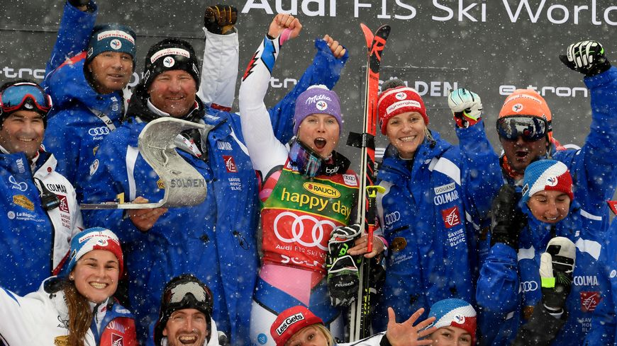 Tessa Worley victorieuse à Sölden samedi 27 octobre