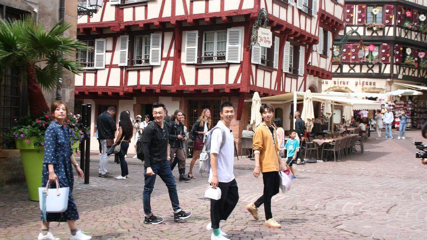 Les stars de la télé réalité chinoise en tournage à Colmar à l'été 2018.