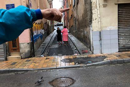 Quartier gitan de la ville de Perpignan.
