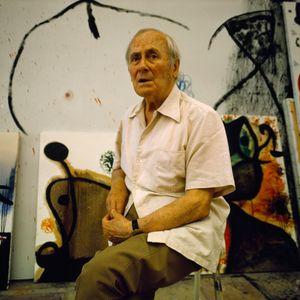 Joan Miro chez lui à Palma de Majorque le 5 mai 1976.