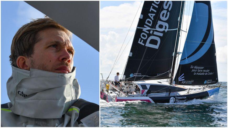 Avec son bateau aux couleurs de DigestScience, Romain Rossi sera sur la ligne de départ de la Route du Rhum le 4 novembre 2018