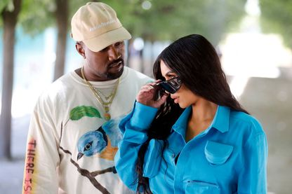 Kanye West et Kim Kardashian à Paris en juin 2018
