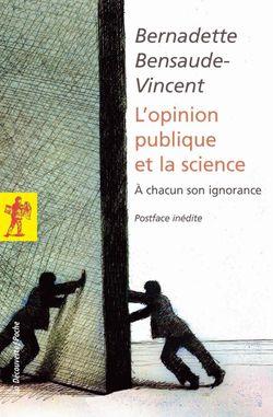 Couverture L'opinion publique et la science