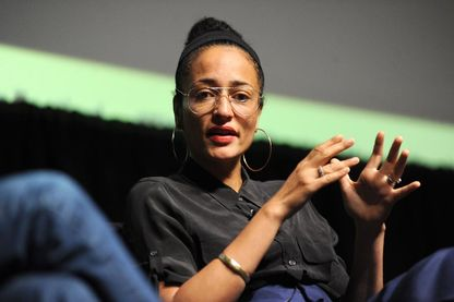 L'écrivaine britannique Zadie Smith, en conférence au New Yorker Festival 2018 (le 06 octobre 2018, à New York City, Etats-Unis)