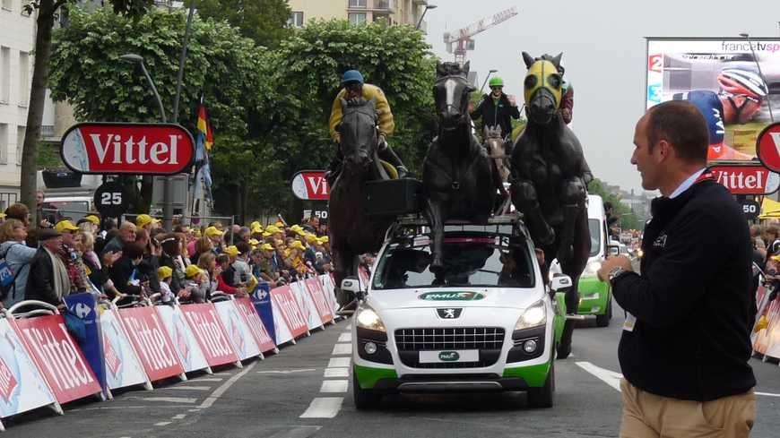 La caravane du Tour de France en 2014 à Reims