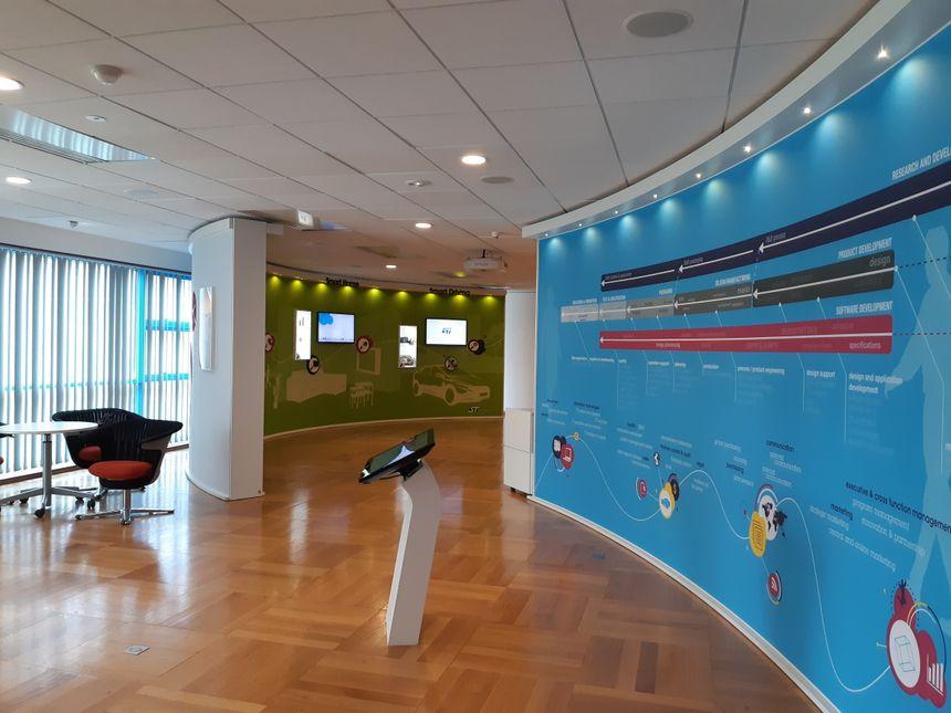 Le show-room du site ST Microelectronics de Grenoble