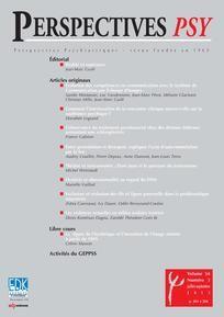 Perspectives Psy n°54/3. Les violences sexuelles en milieu scolaire ivoirien.