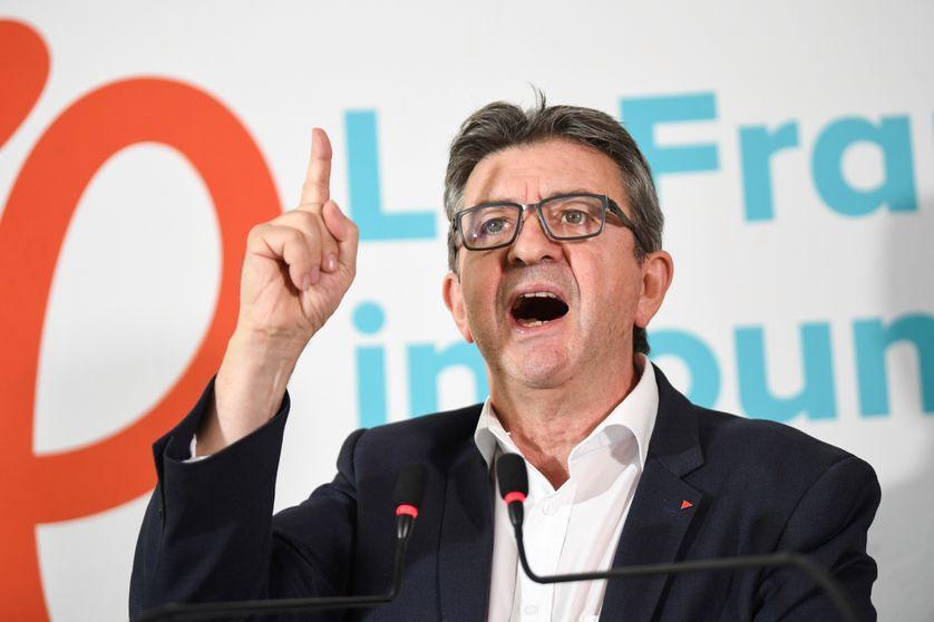Jean-Luc Mélenchon lors de sa conférence de presse du 19 octobre 2018