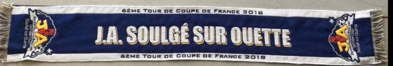 L'écharpe collector de ce 6e tour de Coupe de France.