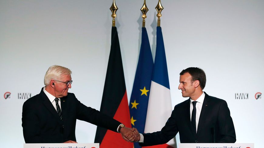 Les présidents Emmanuel Macron et Frank-Walter Steinmeier en novembre 2017 au Hartmannswillerkopf.