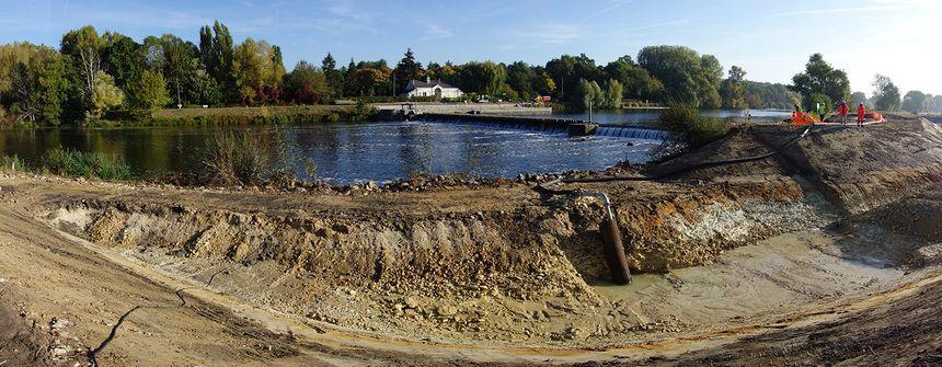 La rivière de contournement fera 185 mètres de long pour 15 mètres de large.