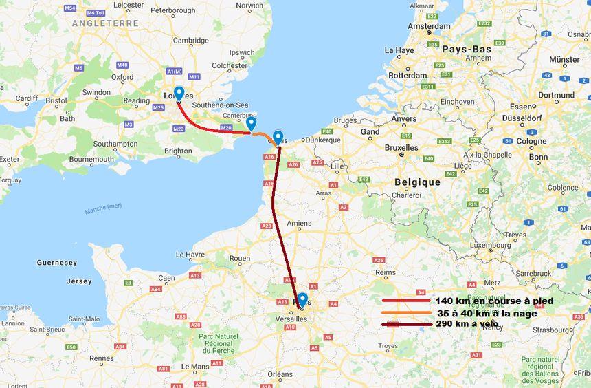 Le parcours de l'Enduroman 2020.