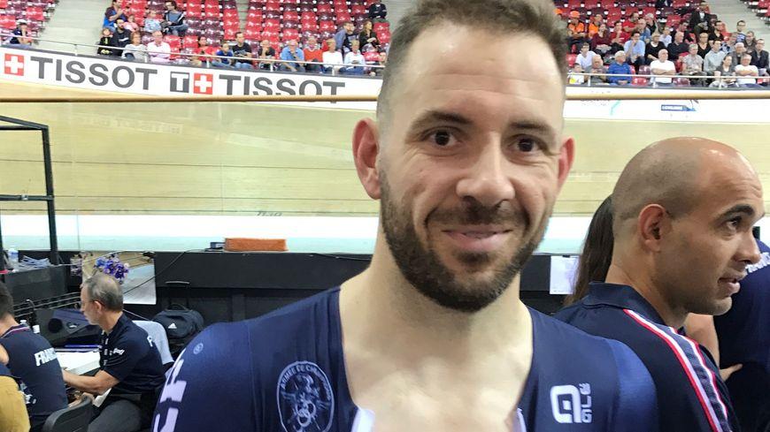 Le Mayennais François Pervis heureux de sa qualification en keirin.