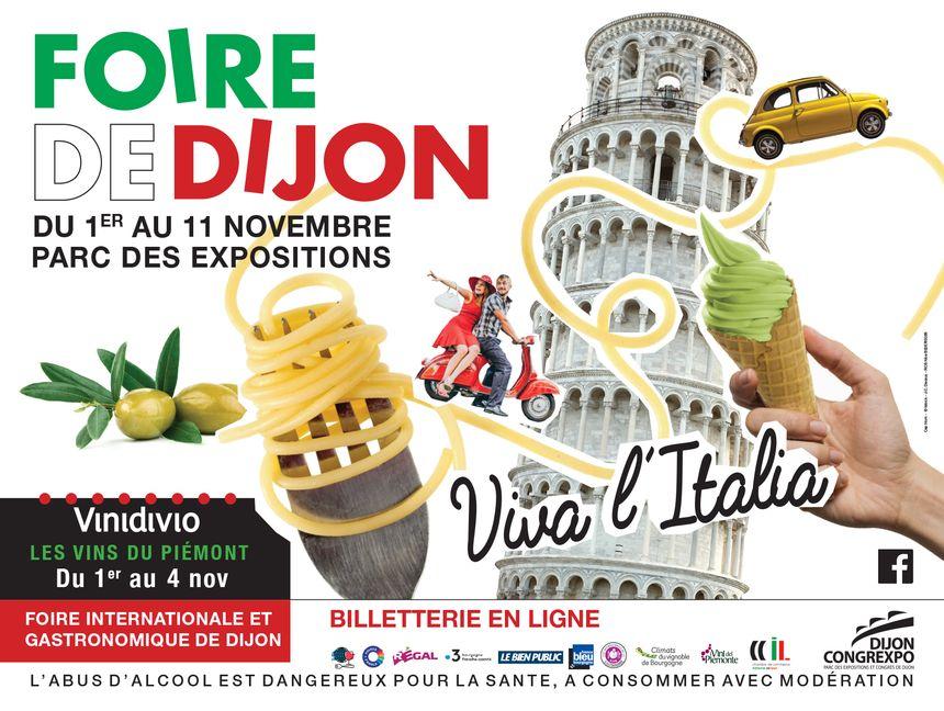 L'affiche de la 88e édition de la Foire internationale et gastronomique de Dijon