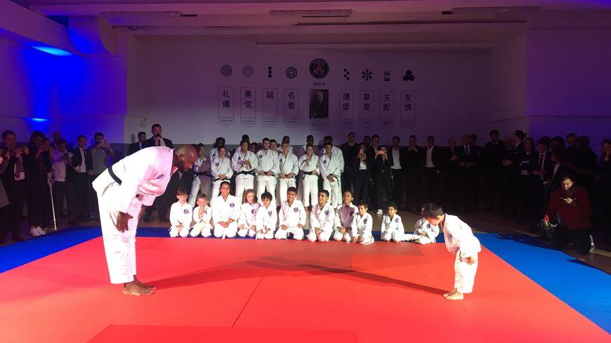 Teddy Riner, présenté comme l'image de marque de la section judo du Paris Saint Germain.