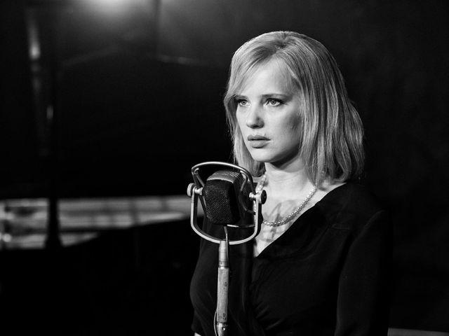 """Joanna Kulig, sur le tournage de """"Cold War"""" de Paweł Pawlikowski, film dramatique polonais sur un amour impossible en pleine Guerre Froide."""