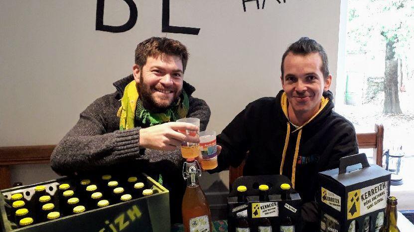 Yoann Thomas et Benoit Le Bozec, les créateurs de la Kerreizh sans alcool