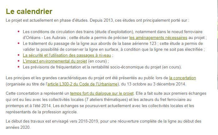 Extrait du site officiel du projet www.chartres-orleans.fr