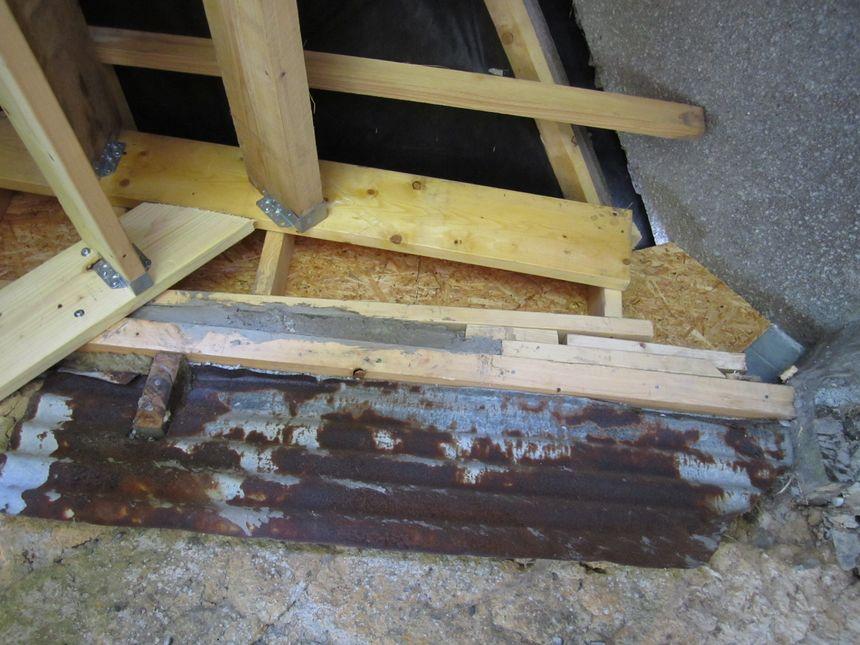 Détail de la jonction avec le pignon existant sur l'une des maisons concernées