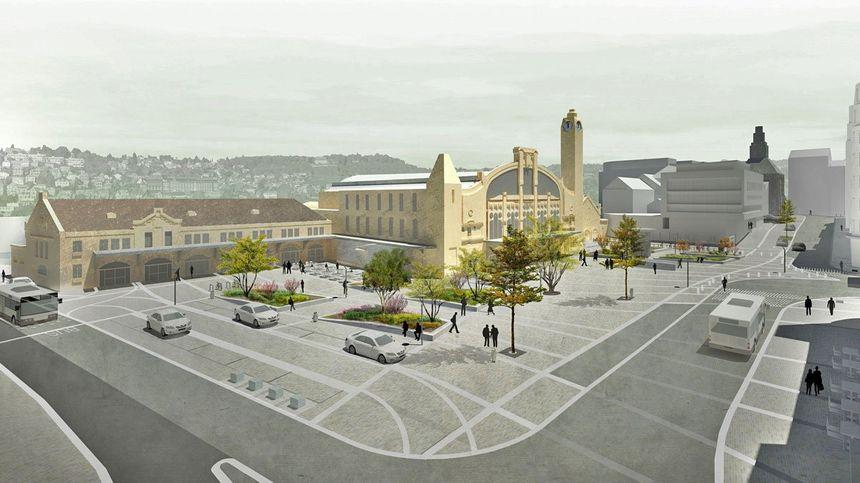 Voilà à quoi devrait ressembler le parvis de la gare de Rouen après les travaux