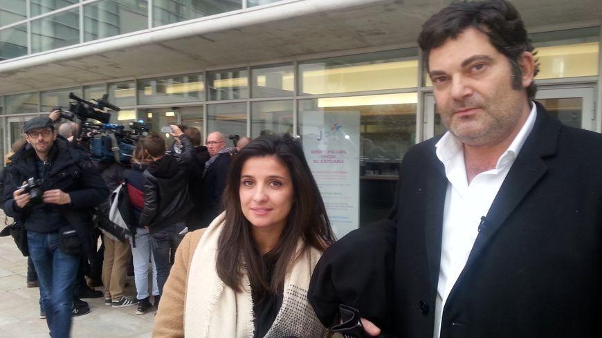 Les avocats de Jonathann Daval, Me Spatafora et Schwerdorffer, le 29 novembre.