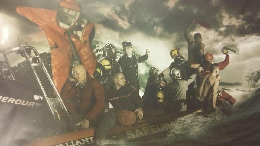 Interprétation du Radeau de La Méduse par l'Amicale des pompiers