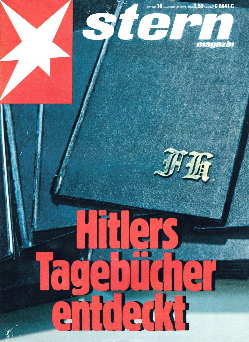 """La couverture du Stern du 28 avril 1983 titre """"La découverte des carnets d'Hitler"""""""