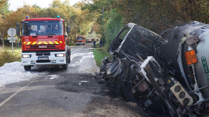 Le camion citerne s'est renversé sur la commune d'Assérac