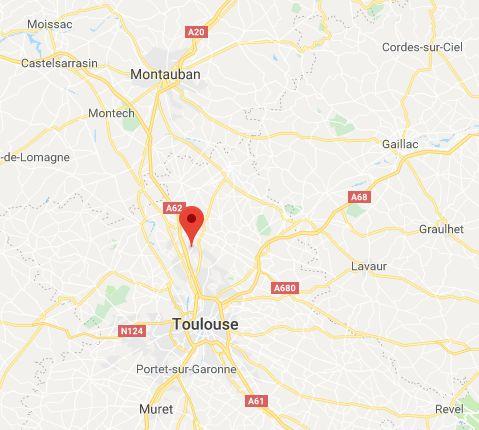 L'accident est survenu au niveau de la commune de Bruguières au nord de Toulouse