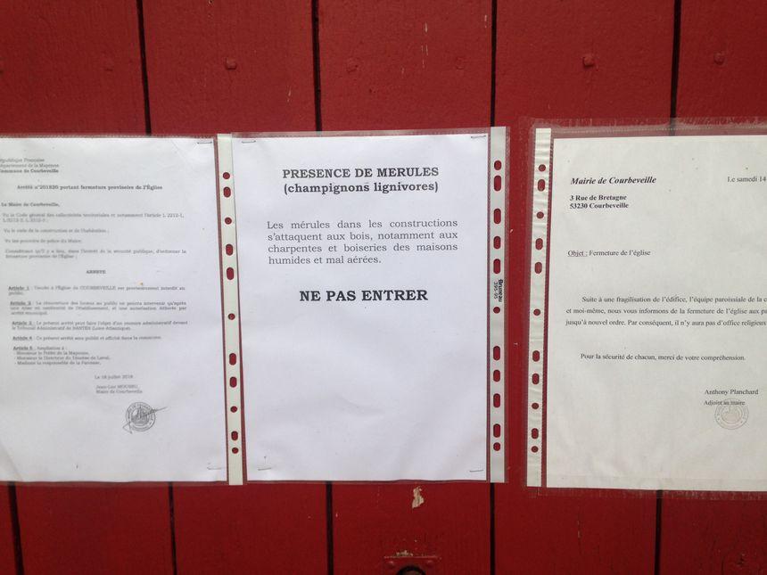 L'église de Courbeveille est fermée au public depuis le 14 juillet 2018